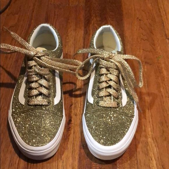 Vans Shoes | Madewell X Gold Glitter
